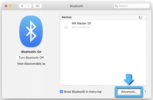 Advanced Bluetooth Settings
