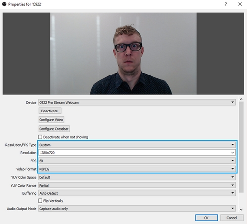 Set up C922 Pro Stream Webcam for OBS Studio – Logitech Support +