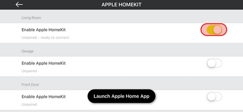 Enable HomeKit