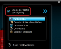 Enable Per Profile