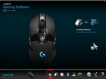 Enable and manage G900 gaming mouse on-board memory with Logitech