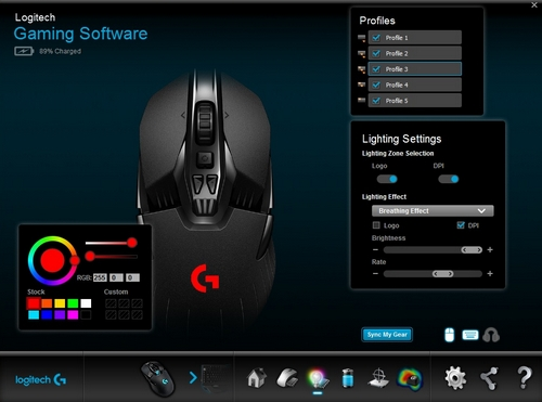 OnBoard Lighting Settings