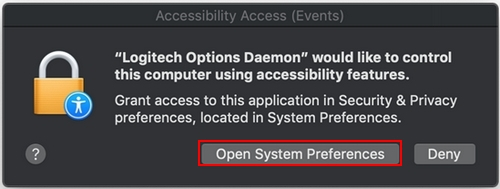 Logitech Options permission prompts on macOS Mojave – Logitech