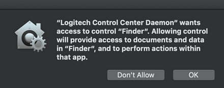 Allow access to control Finder